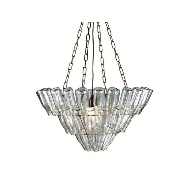 Leitmotiv milk bottle chandelier