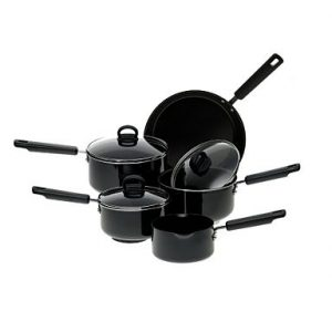 Fantastic Prestige five piece saucepan set with 50% off