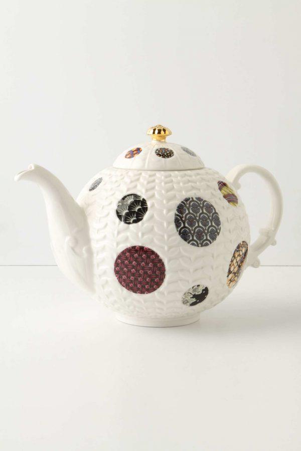 Textured spot teapot