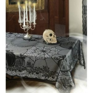 Stylish and tasteful Halloween tablecloth