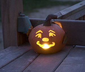 Ready made Halloween pumpkin lantern light