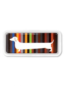 Multicoloured dog themed designer tray from Hunkydory Home