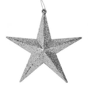 Silver star Christmas decoration