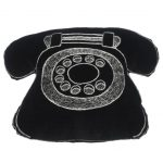 Traditional black telephone cushion