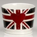 Union Jack trend candle by designer Jan Constantine