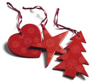 Soapstone christmas tree decorations