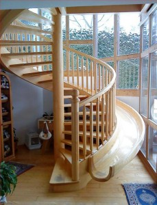 Amazing slide staircase