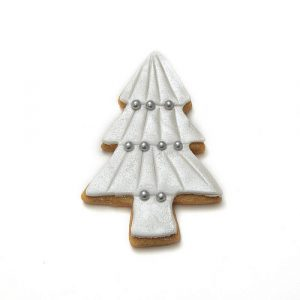 Christmas tree shaped biscuits