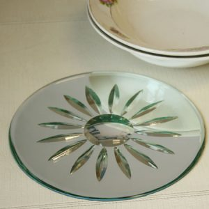 Art deco style mirror placemat table mat