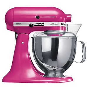 Sought after cranberry Kitchen Aid mixer with free bowl