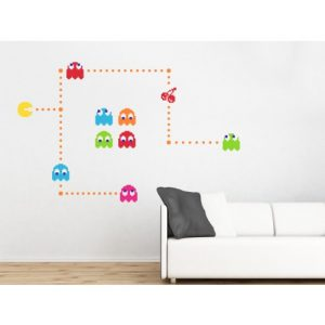 Pacman bedroom wallpaper sticker