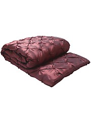 Rich wine luxurious bedding throw from Very