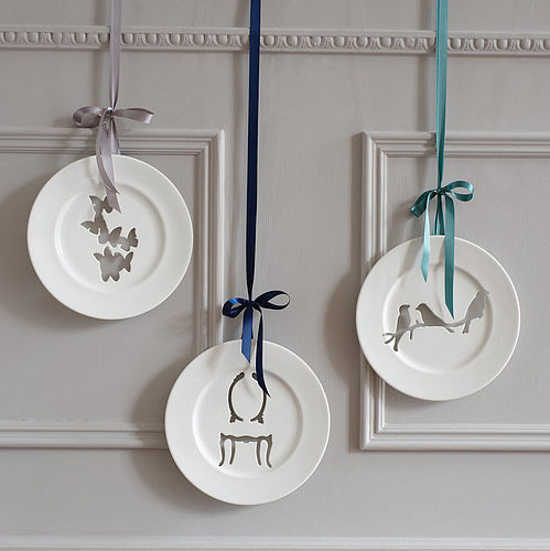 Silhouette wall plates by Andrew Tanner Design