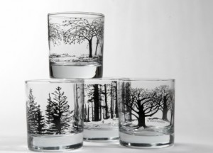 Designer glassware by Snowden Flood