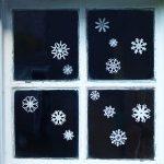 4 Christmas seasonal window stickers costing under £10