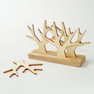 Quirky tree coaster set