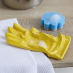 Quirky ceramic rubber glove sink tidy