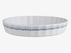 Ceramic fluted flan dish from Habitat