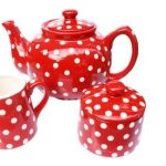Red polka dot homeware products