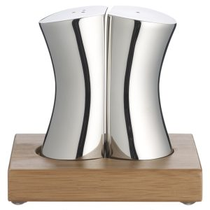 Robert Welsh designer stainless steel salt and pepper set