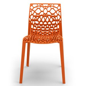Orange designer recycled coral chair