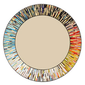 Roulette multi colour round mosaic mirror