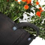 Recycled tyre garden planters