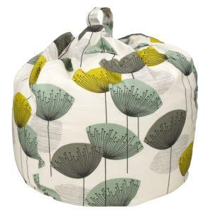 Designer Dandelion Clocks fabric bean bag seat