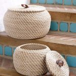 Seagrass storage baskets set from Lombok