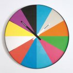 Thomas Bucheim multicoloured flat and quiet clock