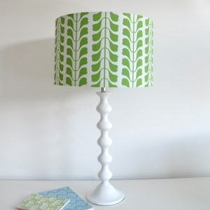 Osborne and Little green leaf fabric lamp shade