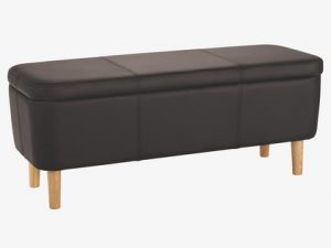 Modern style black bedroom storage bench