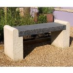 Contemporary sandstone and limestone outdoor bench
