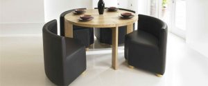 Modern circular dining table