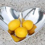 Aluminium heart salad bowl