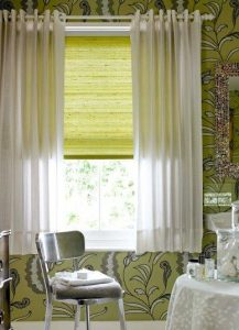 Contemporary eyelet curtains