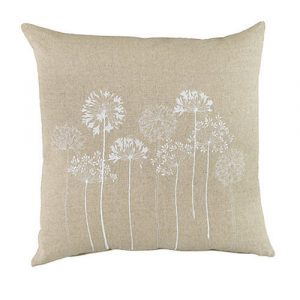 Plant Theatre neutral floral linen cushions