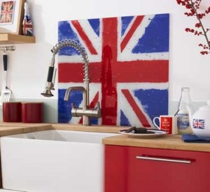 Union jack kitchen tiles