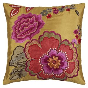 Luxurious rich oriental flower cushion