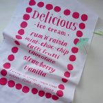 Mr PS Favourite Flavours ice cream tea towel