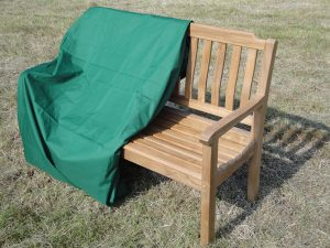 Cover your wooden garden bench
