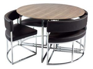 Compact Orbit Modern Dining Table Set From Dwell Fresh Design Blog