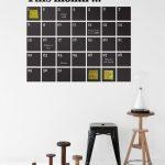 Chalkboard calendar wall sticker from Rose & Grey