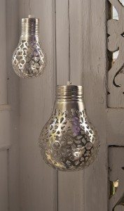 Silver perforated designer lights