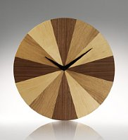 Wooden segment designer Conran clock