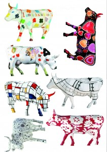 Funky cow wall stickers