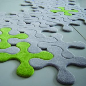 Contemporary felt jigsaw rug