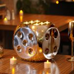 Cool Fire Dice tea light candle holder