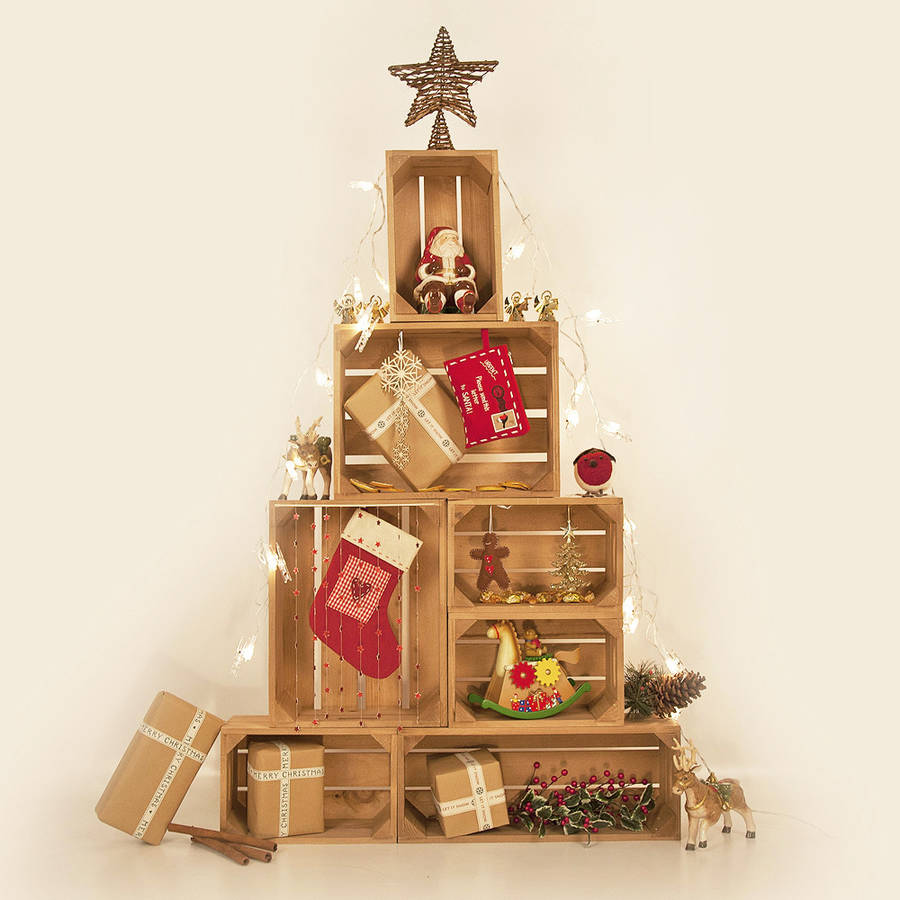 Fresh Design crate Christmas tree