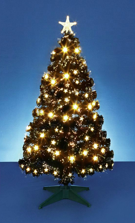 Fed up with green trees? Be bold, and go for black! This one is even pre-lit with star lights.